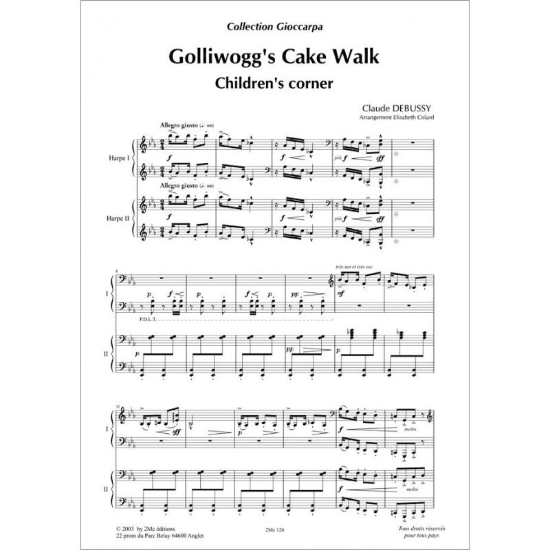 Golliwog's cake walk   Debussy  pour 2 harpes
