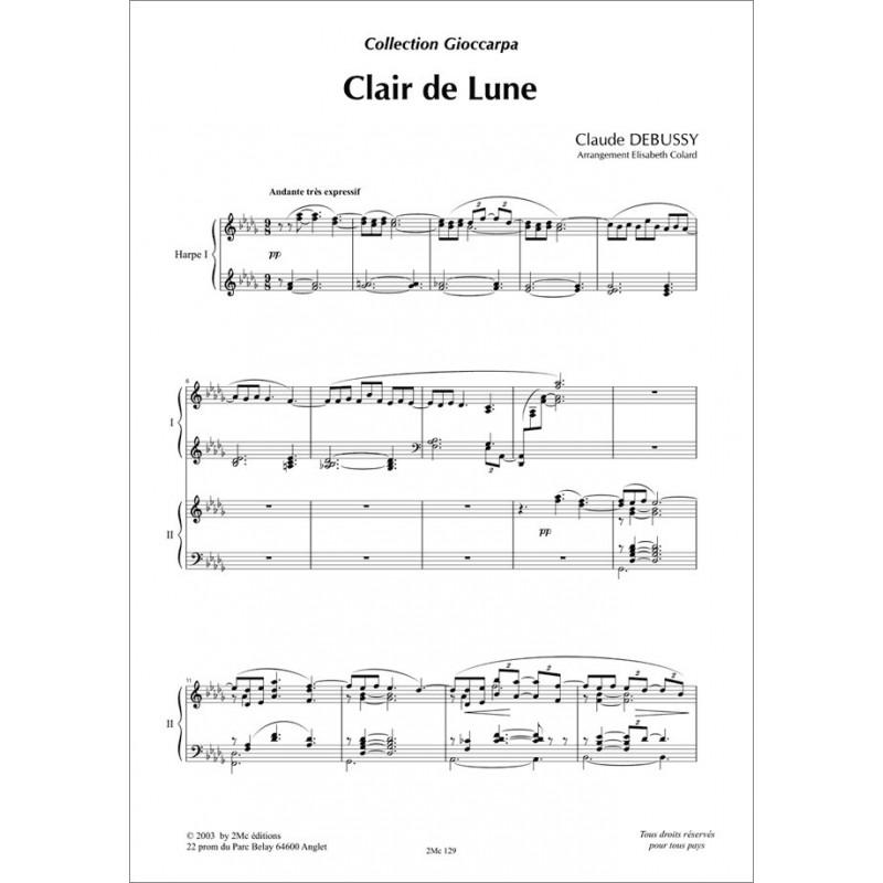 Clair de lune   Debussy pour 2 harpes