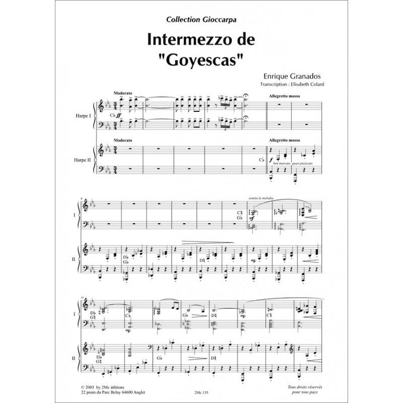 """Granados Intermezzo de """"Goyescas"""" 2 Harpes"""