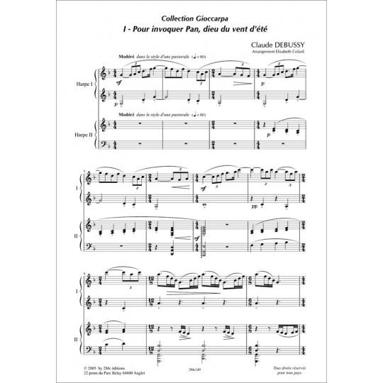 Pour invoquer Pan dieu du vent d'été Debussy pour duo de harpes