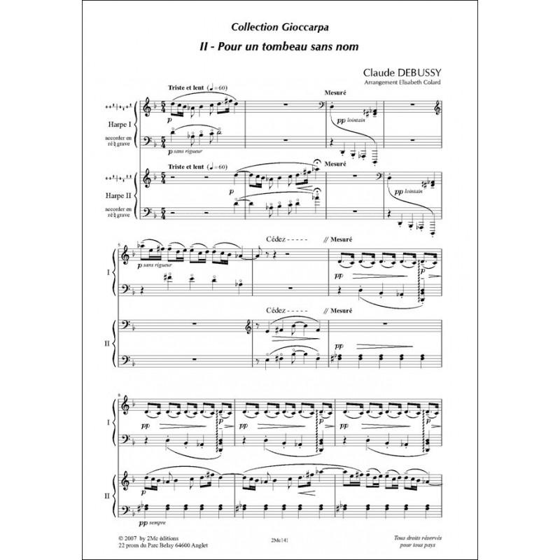 Pour un tombeau sans nom Claude Debussy  pour duo de harpes