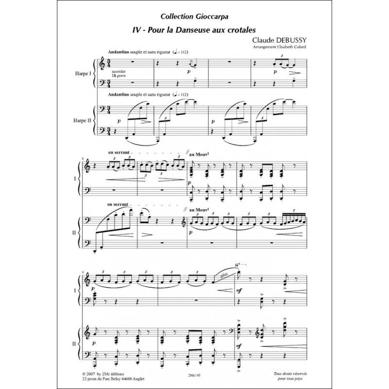 Pour la danseuse aux crotales Claude Debussy  2 harpes
