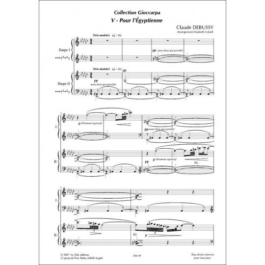 Pour l'Egyptienne Claude Debussy Pour 2 harpes