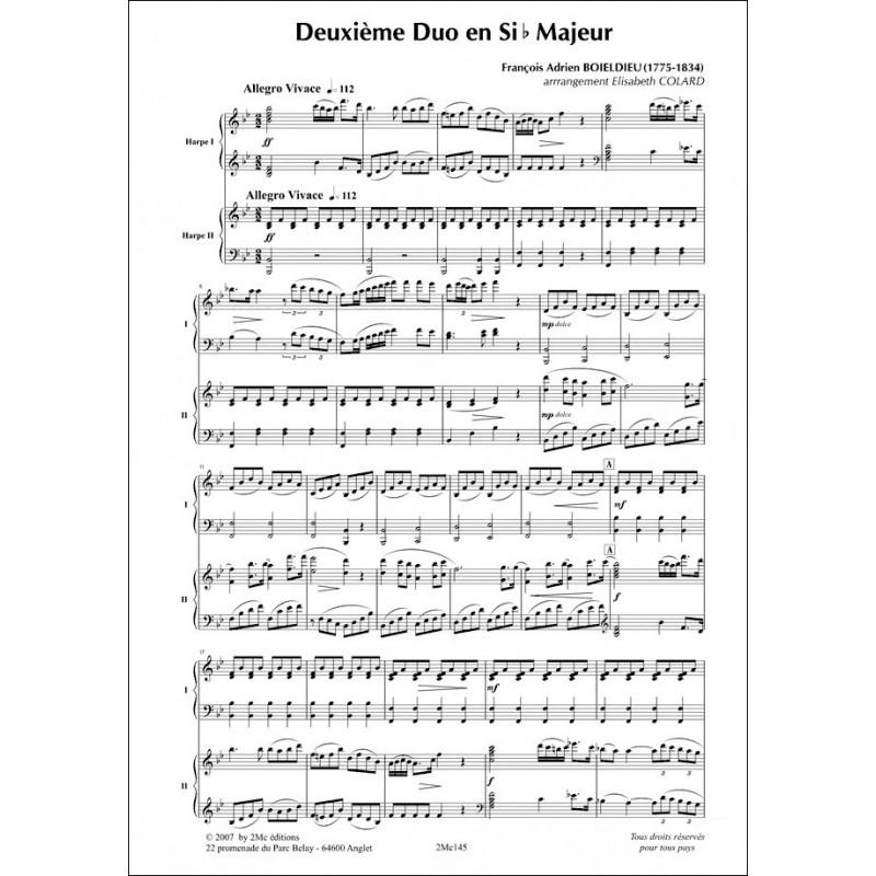Deuxième duo en Sib Majeur 2 harpes