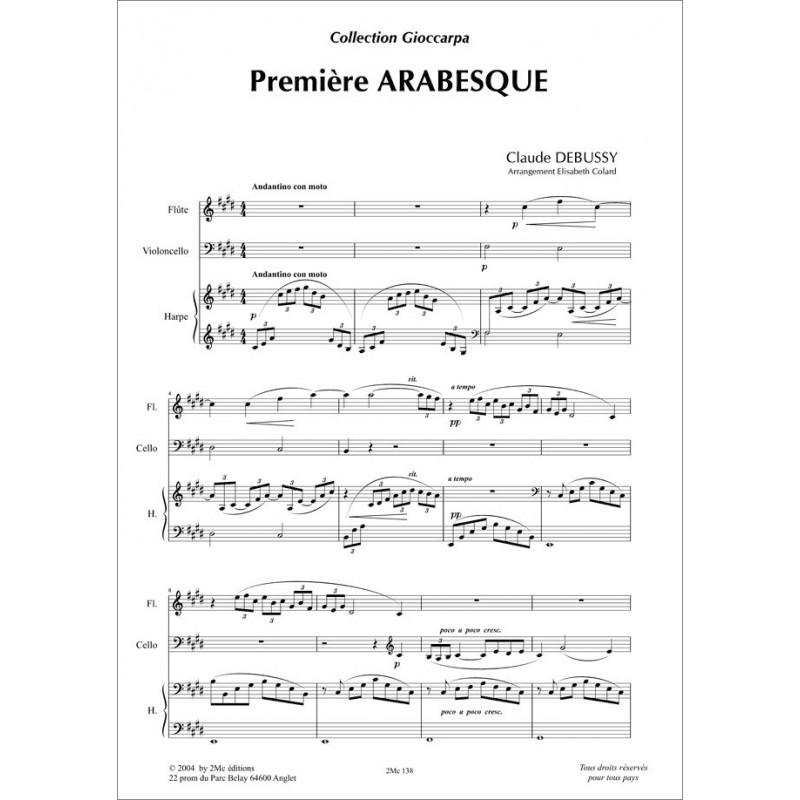 Première arabesque Claude Debussy (fl. vlc. et Hp.)