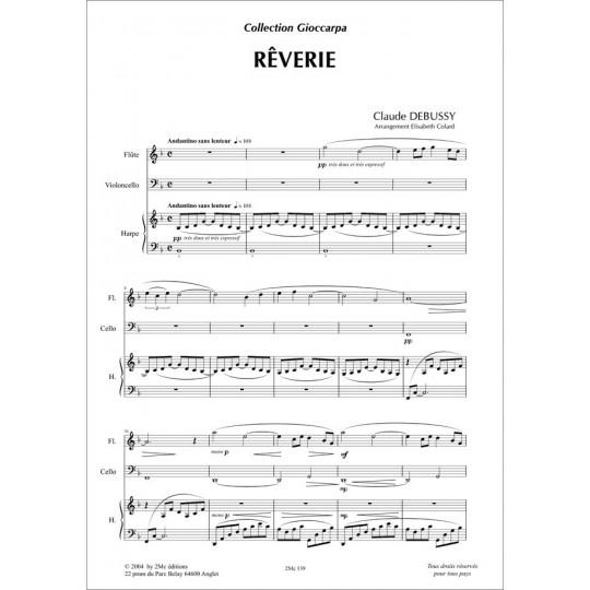 Rêverie  Claude Debussy  pour duo de harpes