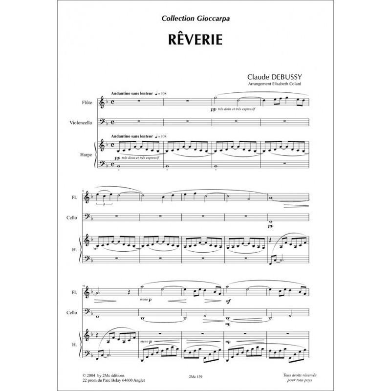Rêverie  Claude Debussy  (fl., vlc. et hp.)