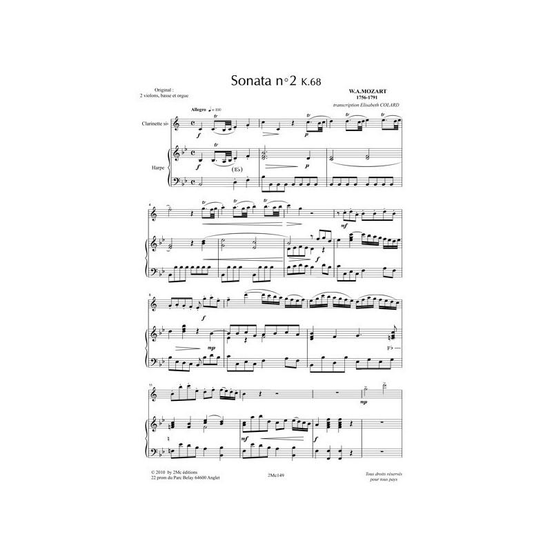 Mozart Sonata n°2 k68 (clar. et Hp)