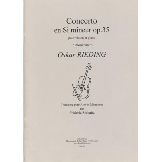 Concerto op.35 O.Rieding pour alto