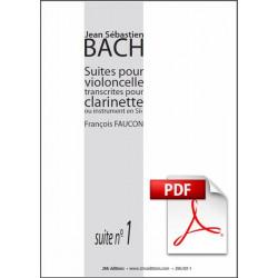 JS Bach Suite n°1 pour clarinette Pdf