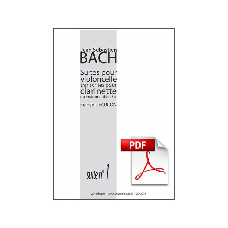 JS Bach Suite n°1 pour clarinette Pdf couverture