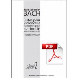 JS Bach Suite n°2 pour clarinette Pdf