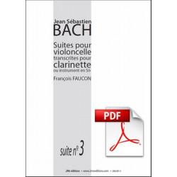 JS Bach suite n°3 pour clarinette pdf