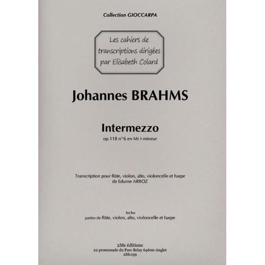 Brahms Intermezzo op.118 n°6 Couverture
