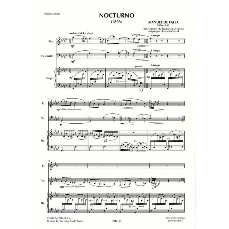 De Falla Nocturno score