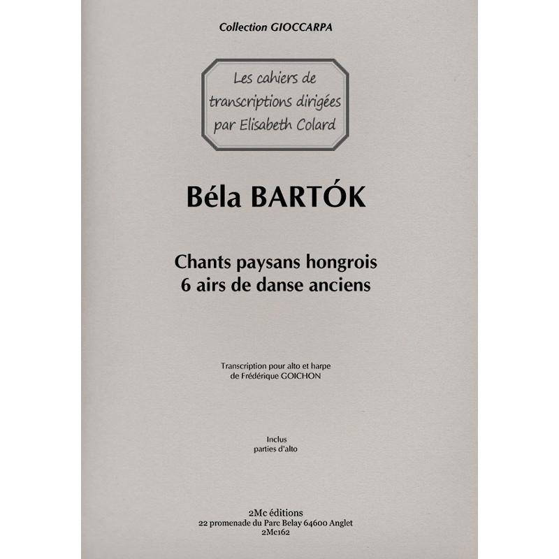 Bartok 6 airs de danse anciens couverture