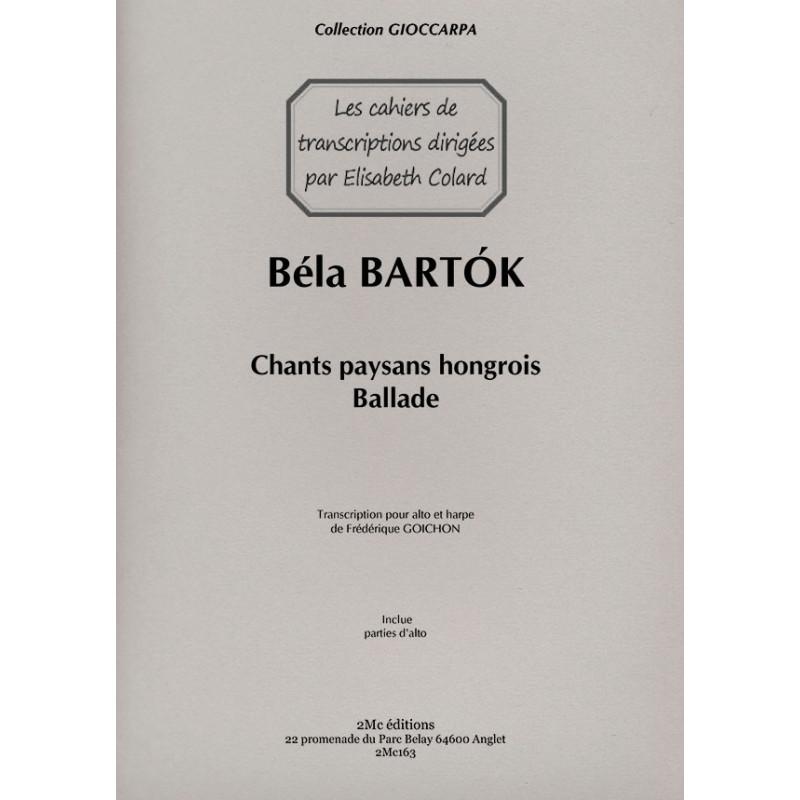 Bartok Ballade pour Alto et harpe
