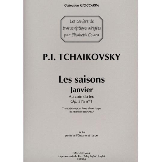 Tchaikovsky Les saisons Janvier pour flûte, alto et harpe