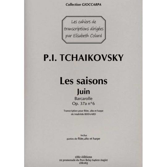 Tchaikovsky Les saisons Juin pour flûte, alto et harpe
