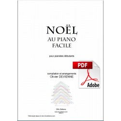 Noel au piano facile couverture