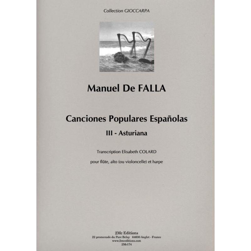 De Falla - Asturiana Couverture