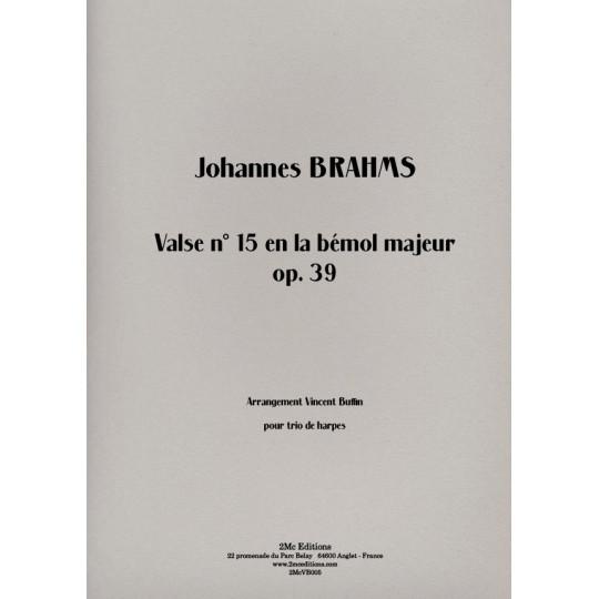 Brahms - Valse n°15 lab maj op39  Couverture