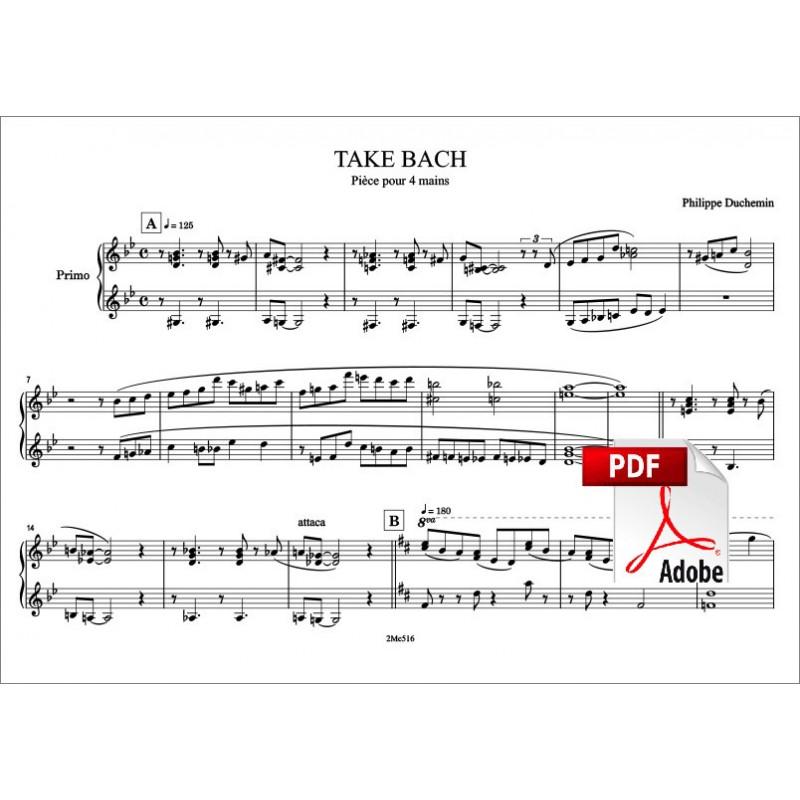Take Bach piano à 4 mains Piano Primo