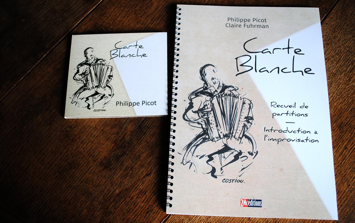 CD  et recueil de partitions Carte Blanche de Philippe Picot